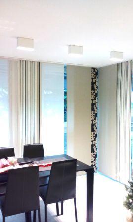 tenda a pannelli scorrevoli in lino, seta e velluto - arredamento mariano confezioni tende a verona